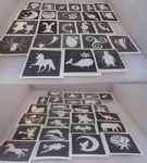 400 x tattoos stencils for glitter tattoos, airbrush, Children in Need  Fund Raising